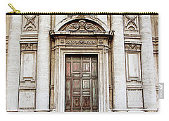 Roman Doors - Door Photography - Rome, Italy Carry-all Pouch by Melanie Alexandra Price