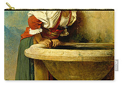 Roman Girl At A Fountain Carry-all Pouch