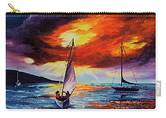 Carry-all Pouch featuring the painting Romancing The Sail by Darice Machel McGuire