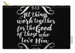 Romans 8 28 Scripture Verses Bible Art Carry-all Pouch