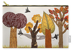 Romantic Autumnal Grove Carry-all Pouch
