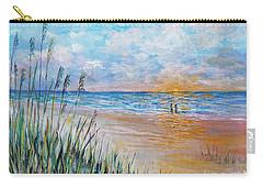 Romantic Beach Carry-all Pouch by Lou Ann Bagnall