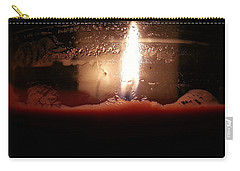 Carry-all Pouch featuring the photograph Romantic Candle by Robert Knight
