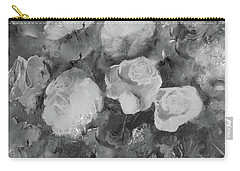 Carry-all Pouch featuring the painting Romantic Large Roses  by Robin Maria Pedrero
