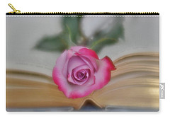 Carry-all Pouch featuring the photograph Romantic Read 2 by Diane Alexander
