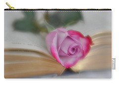 Carry-all Pouch featuring the photograph Romantic Read by Diane Alexander