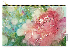romantic Rose Carry-all Pouch by Judith Levins