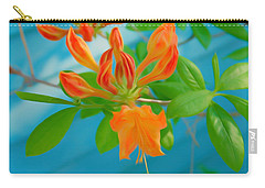 Carry-all Pouch featuring the photograph Romantic Skies Budding Azalea by Aimee L Maher Photography and Art Visit ALMGallerydotcom