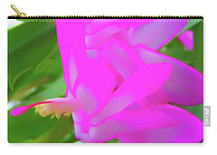Carry-all Pouch featuring the photograph Romantic Skies Christmas Cactus Flower by Aimee L Maher Photography and Art Visit ALMGallerydotcom