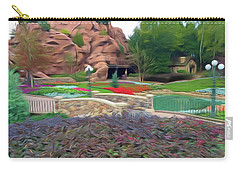 Carry-all Pouch featuring the photograph Romantic Skies Flower Garden Walkway by Aimee L Maher Photography and Art Visit ALMGallerydotcom