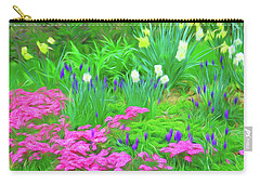 Carry-all Pouch featuring the photograph Romantic Skies Garden Escape by Aimee L Maher Photography and Art Visit ALMGallerydotcom