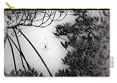 Carry-all Pouch featuring the photograph Romantic Spider by Megan Dirsa-DuBois