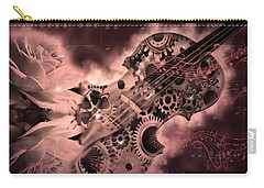 Romantic Stemapunk Violin Music Carry-all Pouch