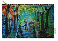 Romantic Stroll Carry-all Pouch by Leslie Allen