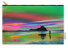 Romantic Tropical Beach Walk Carry-all Pouch