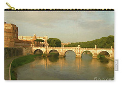 Rome The Eternal City And Tiber River Carry-all Pouch