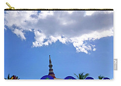 Carry-all Pouch featuring the digital art Rooftop And Sky by Francesca Mackenney