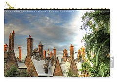 Carry-all Pouch featuring the photograph rooftops Hogsmeade by Tom Prendergast