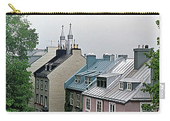Carry-all Pouch featuring the photograph Rooftops by John Schneider