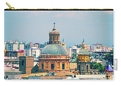 Carry-all Pouch featuring the photograph Rooftops Of Seville - 1 by Mary Machare