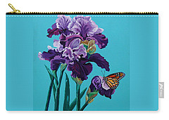 Kim's Iris's With Monarch. Carry-all Pouch