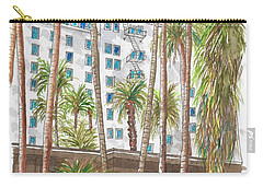 Roosevelt Hotel In Hollywood Blvd., Hollywood, California Carry-all Pouch