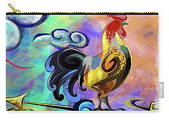Rooster At The Outpost Carry-all Pouch