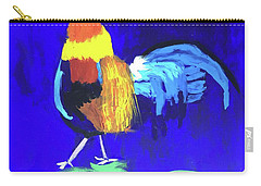 Carry-all Pouch featuring the painting Rooster by Donald J Ryker III