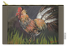 Rooster - Moby - Chicken Carry-all Pouch by Jan Dappen
