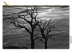 Roots In Black And White Carry-all Pouch