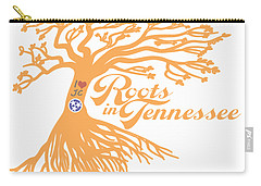 Carry-all Pouch featuring the photograph Roots In Tn Orange by Heather Applegate