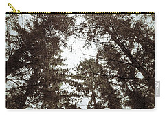 Carry-all Pouch featuring the photograph Rorschach Trees by Karen Stahlros