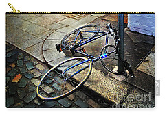 Carry-all Pouch featuring the photograph Rory's Fishing Tackle Bicycle by Craig J Satterlee
