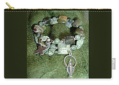 Carry-all Pouch featuring the jewelry Rosary Bracelet by Michele Myers