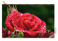 Carry-all Pouch featuring the photograph Rose After Rain by Leif Sohlman