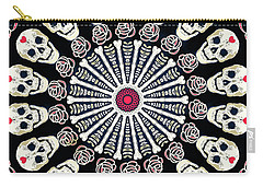 Rose And Bone Mandala Of The Heart Carry-all Pouch