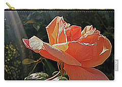 Carry-all Pouch featuring the photograph Rose And Rays by Suzy Piatt