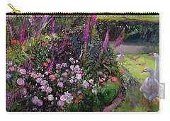 Rose Bed And Geese Carry-all Pouch by Timothy Easton