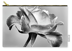 Rose Bloom In B W Carry-all Pouch