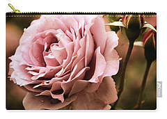 Rose Blooms At Dusk Carry-all Pouch by Jessica Jenney