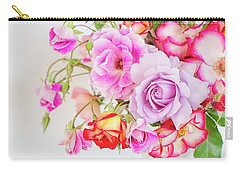 Rose Bouquet And Vintage Teapot Carry-all Pouch