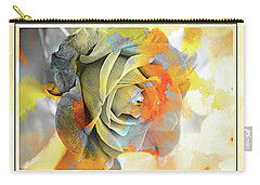 Carry-all Pouch featuring the photograph Rose Bud by Athala Carole Bruckner