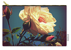 Rose Facing The Sun Carry-all Pouch by Susan Lafleur