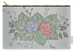 Rose Family Pose Carry-all Pouch