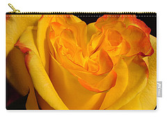 Carry-all Pouch featuring the photograph Rose Heart by Margaret Bobb
