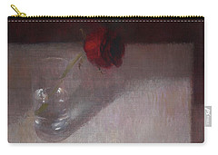 Rose In Glass Carry-all Pouch