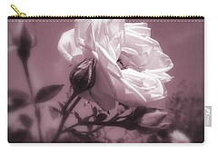 Rose In Rose Carry-all Pouch by Susan Lafleur