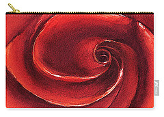 Rose In Stone Carry-all Pouch