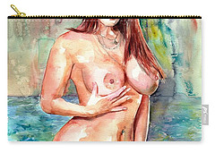 Rose In The Lake Carry-all Pouch