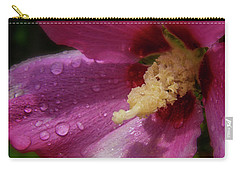 Rose Of Sharon Hibiscus Panorama Carry-all Pouch by Garry McMichael